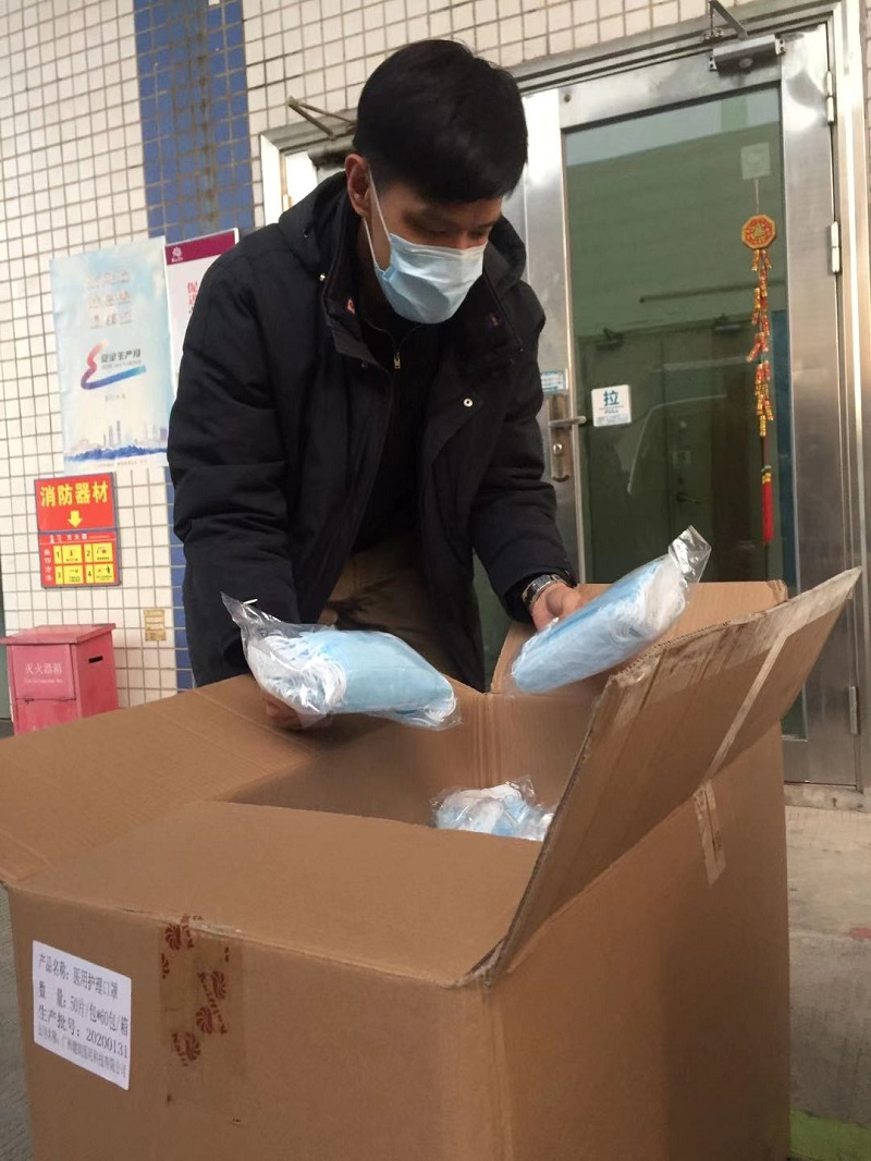 王老吉公司领导亲切慰问疫情防控用品物流供应一线员工